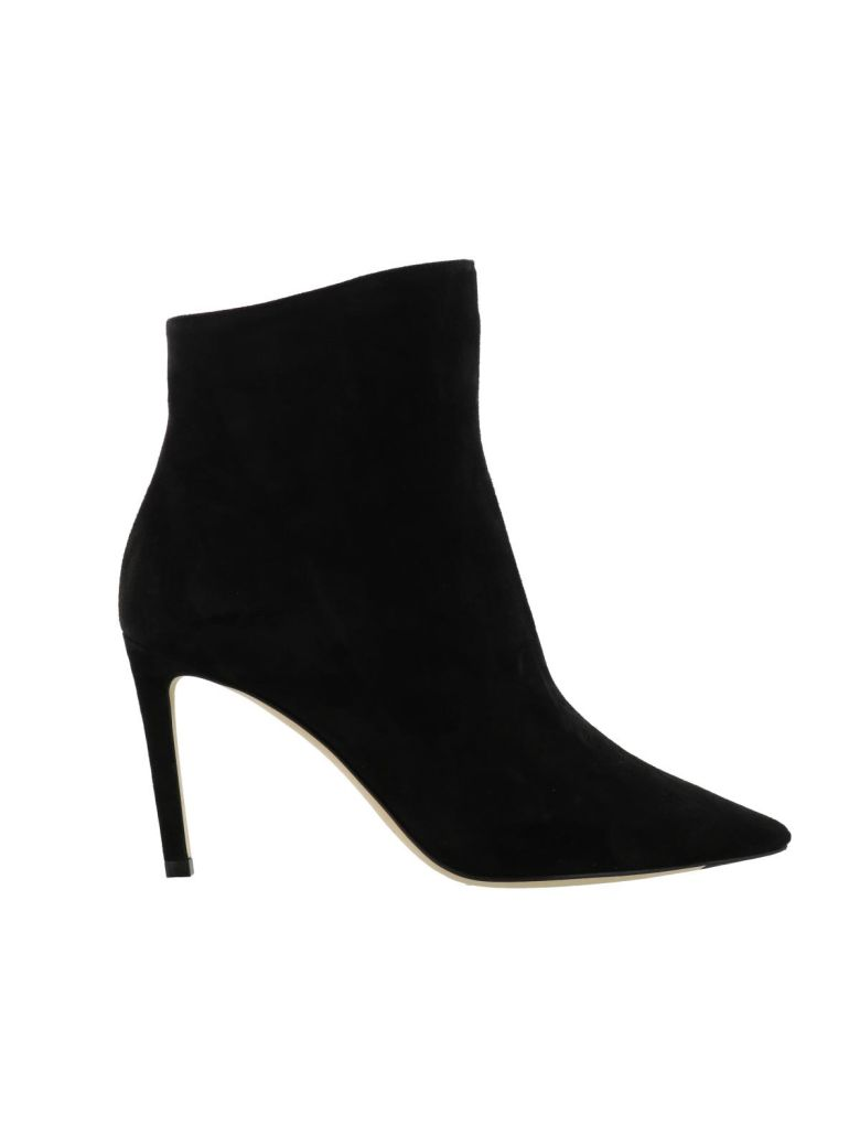 Helaine 85 Suede Ankle Boots, Black
