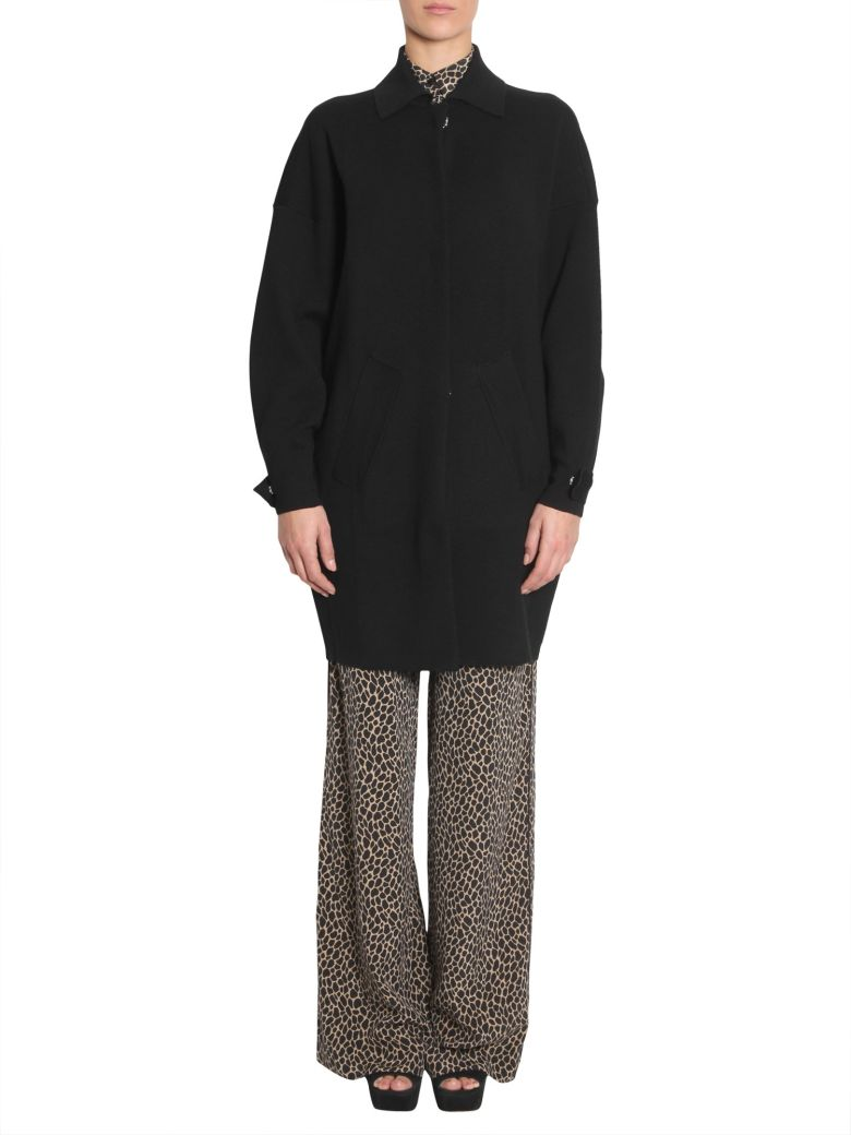 Merino Wool Coat in Black