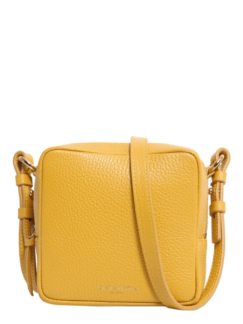 SARA BATTAGLIA Cube Crossbody Bag in Yellow