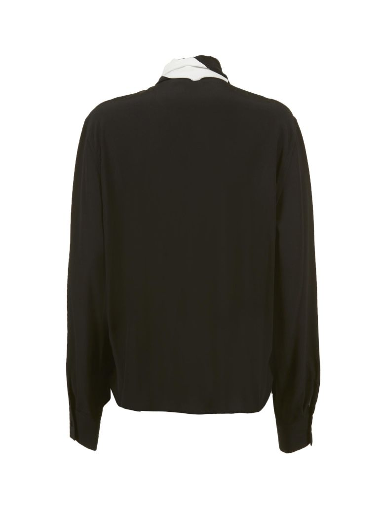 Givenchy Lavallière Collar Shirt - Nero bianco