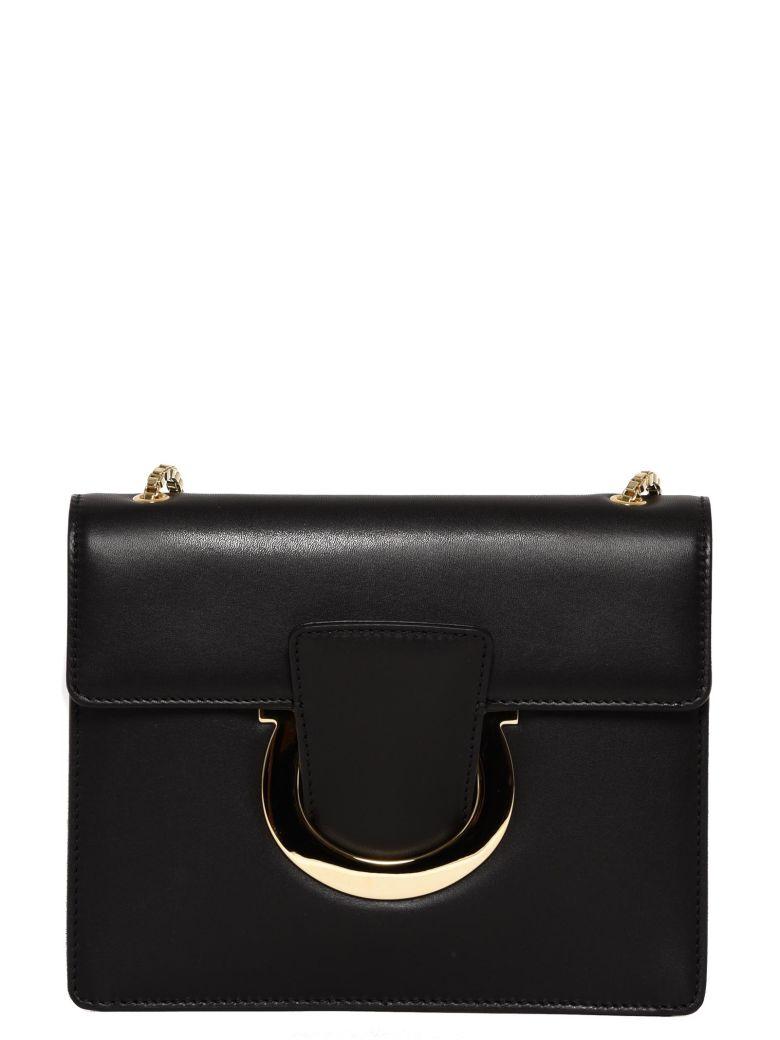 Salvatore Ferragamo Thalia Leather Crossbody In Black  e284d24c630a7