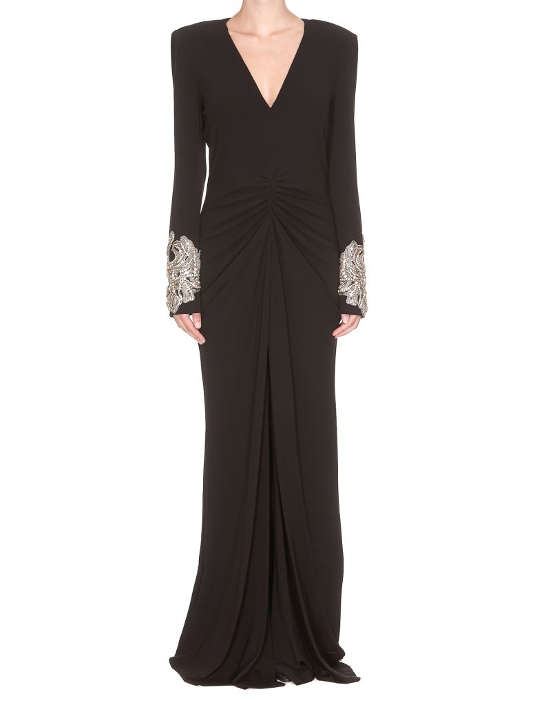ALEXANDER MCQUEEN CRYSTAL EMBELLISHED DRESS