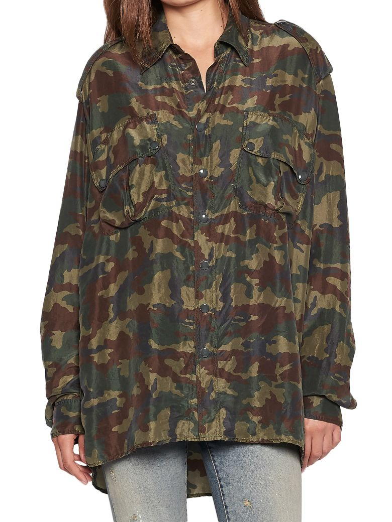 camouflage print shirt