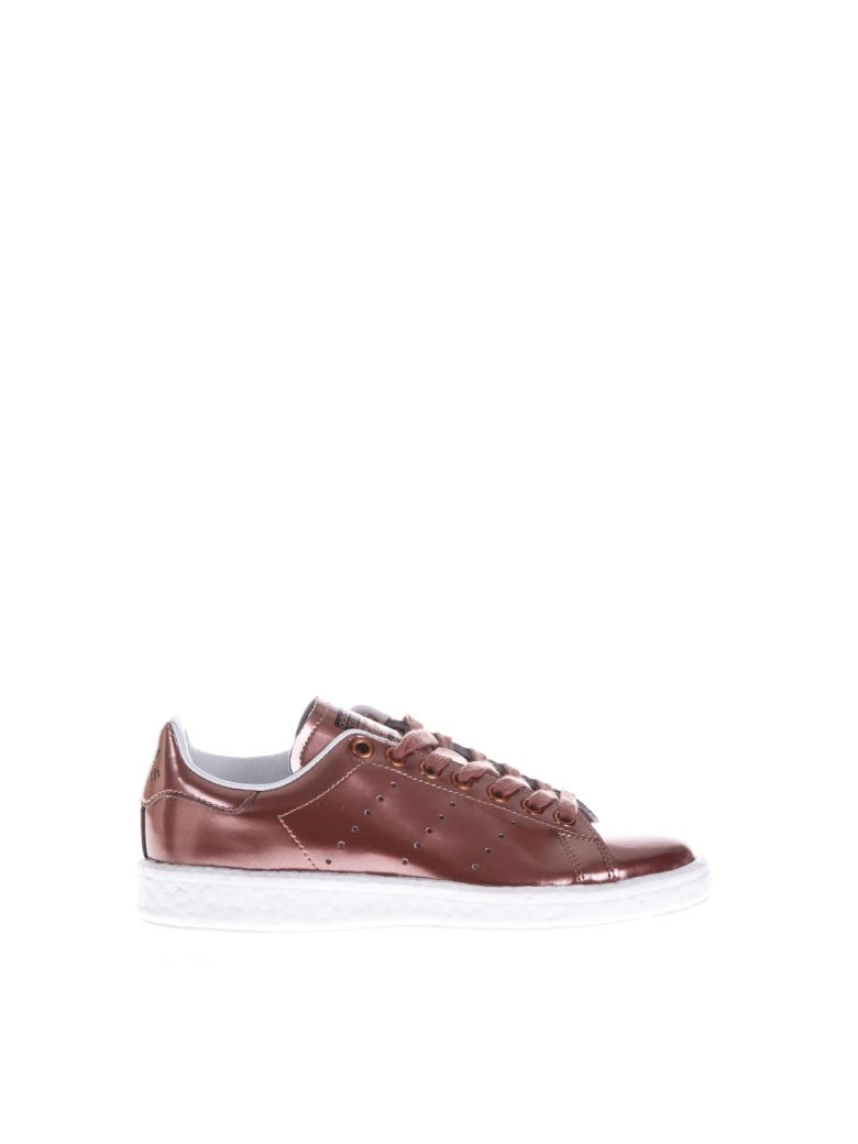 STAN SMITH BOOST PINK GOLD LAMINATED LEATHER SNEAKER