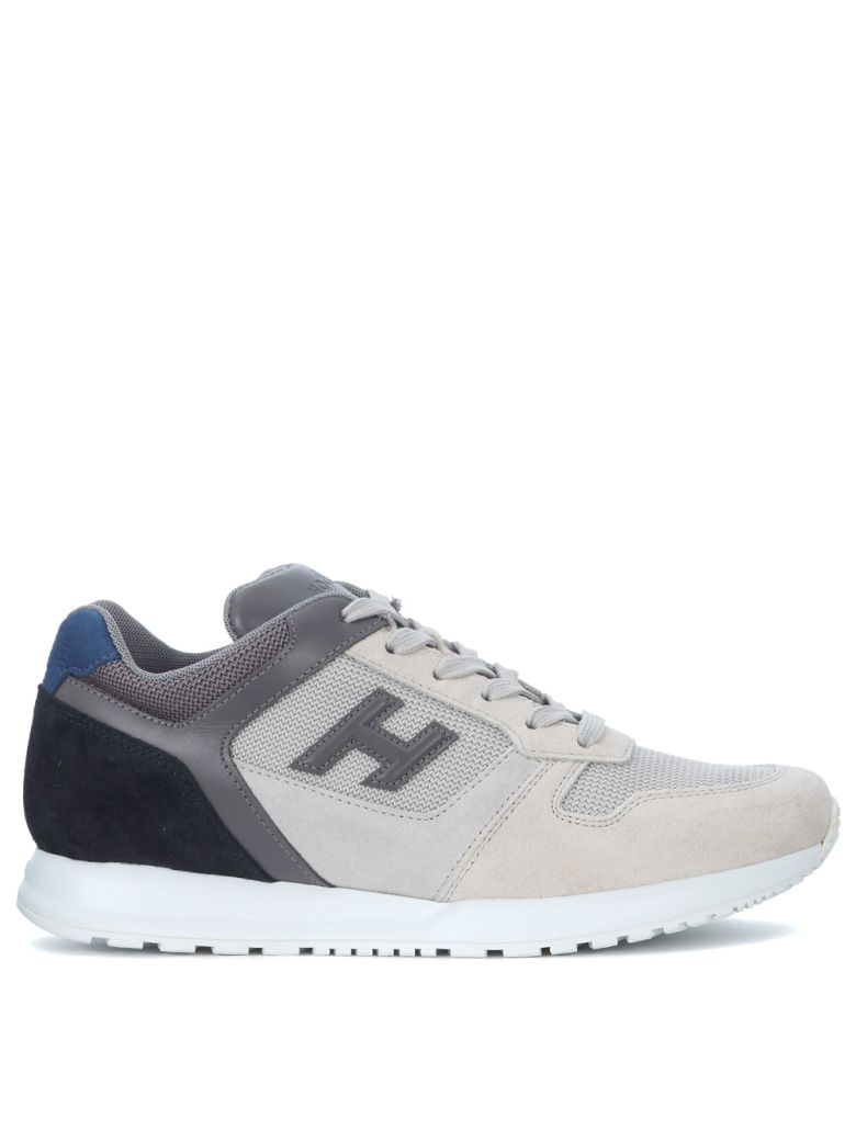 H321 SUEDE SNEAKER AND WHITE, GREY AND BLUE MESH