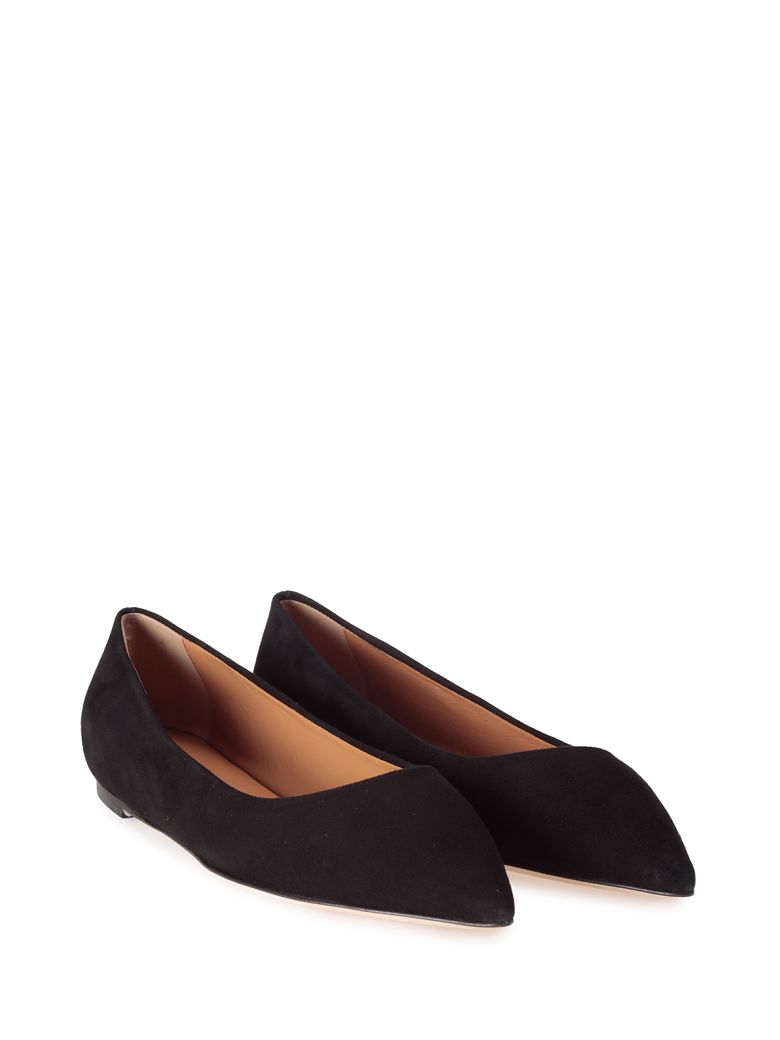 LERRE SUEDE POINTED BALLET FLAT