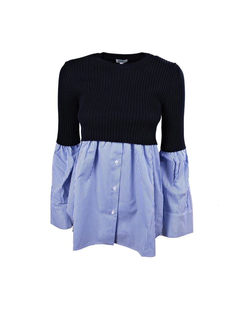 LONG SLEEVES TOP MIX KNIT