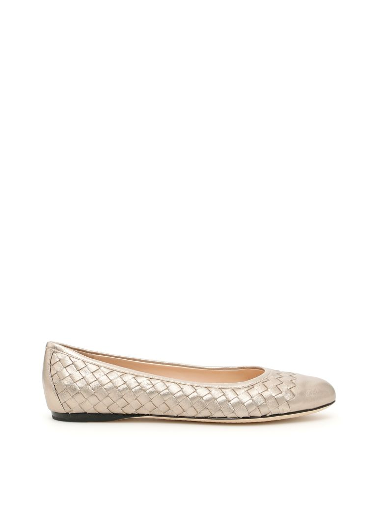 Bottega Veneta Laminated Nappa Peggy Ballerinas Buy Cheap Top Quality Clearance Store For Sale 100% Authentic For Sale Buy Cheap Big Discount WtI77KF18