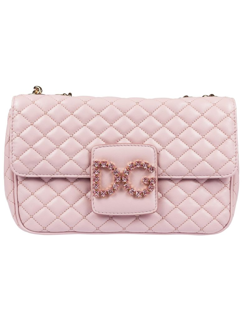 Dolce   Gabbana Quilted Logo Shoulder Bag In Rosa Carne 2  a3bd1e6d7b2c4