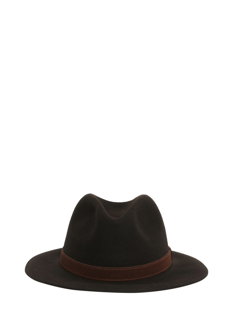 BORSALINO Brushed Felt Hat in Brown