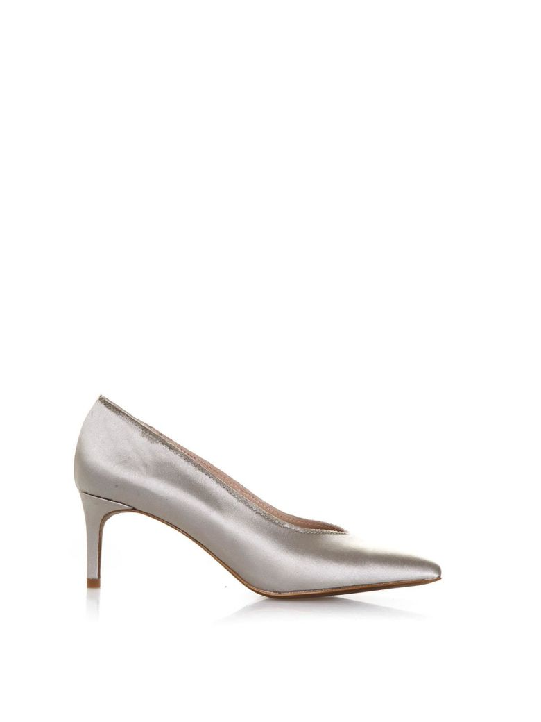 LOLA CRUZ AMAPOLA NUDE SATIN PUMPS