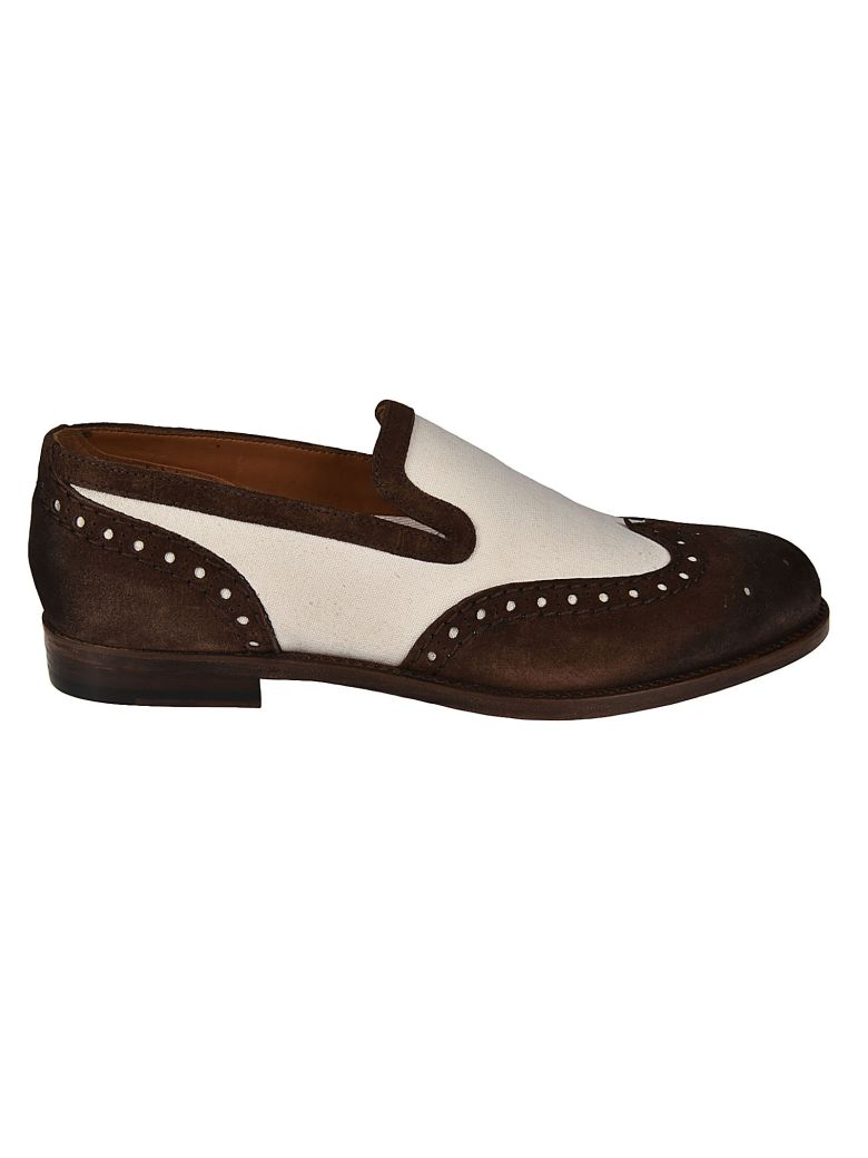 DOUCALS PERFORATED LACELESS OXFORD SHOES
