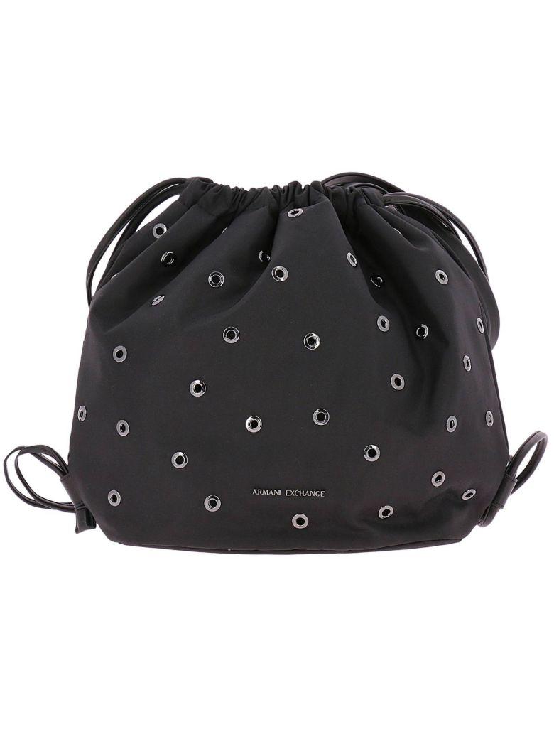 e42efc1872e5 Armani Collezioni Backpack Shoulder Bag Women Armani Exchange In Black