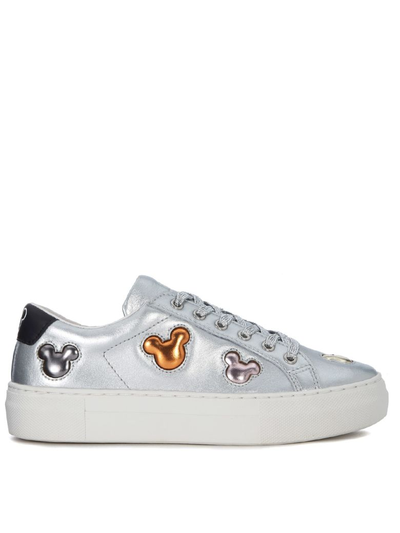 M.O.A. MASTER OF ARTS MOA MICKEY MOUSE MULTICOLOR AND SILVER LEATHER SNEAKER