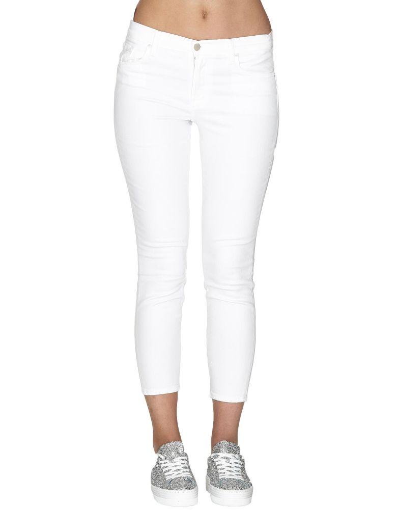 J Brand Mid Rise Capri Jeans - White