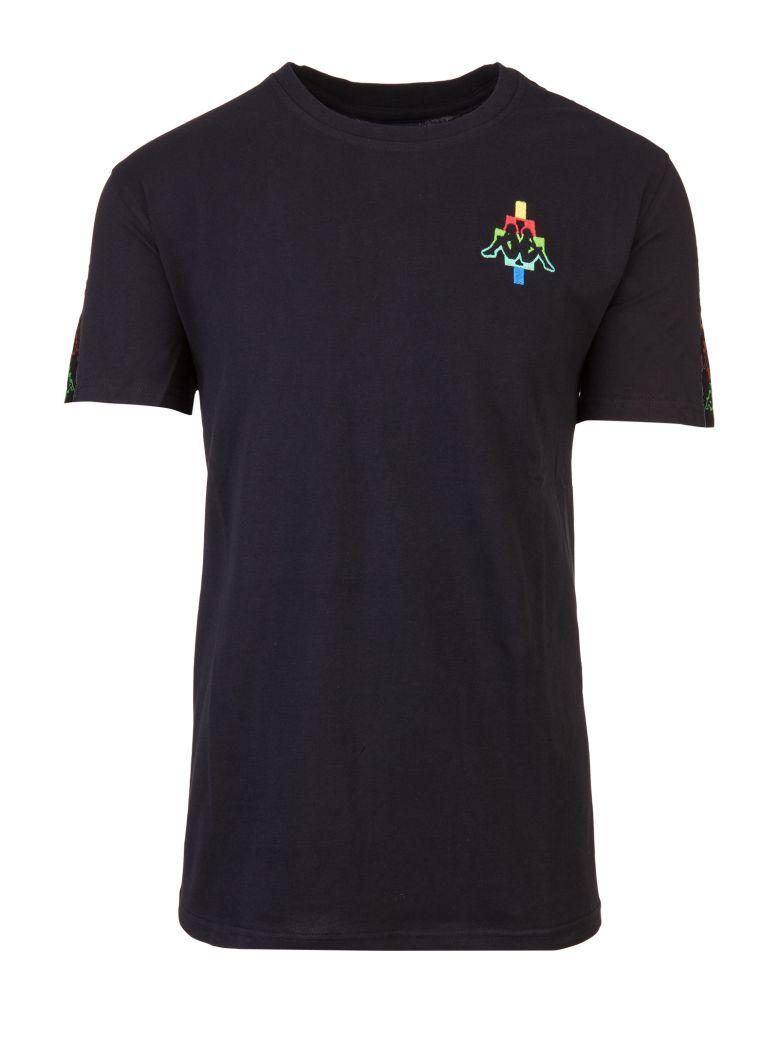 Marcelo Burlon - X Kappa Cotton Blend T Shirt - Mens - Multi, Nero Multicolor