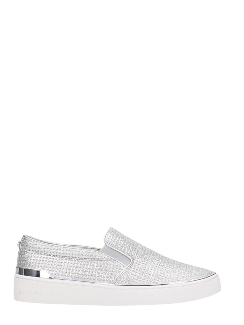 SLIP ON SNEAKERS IN SILVER LEATHER