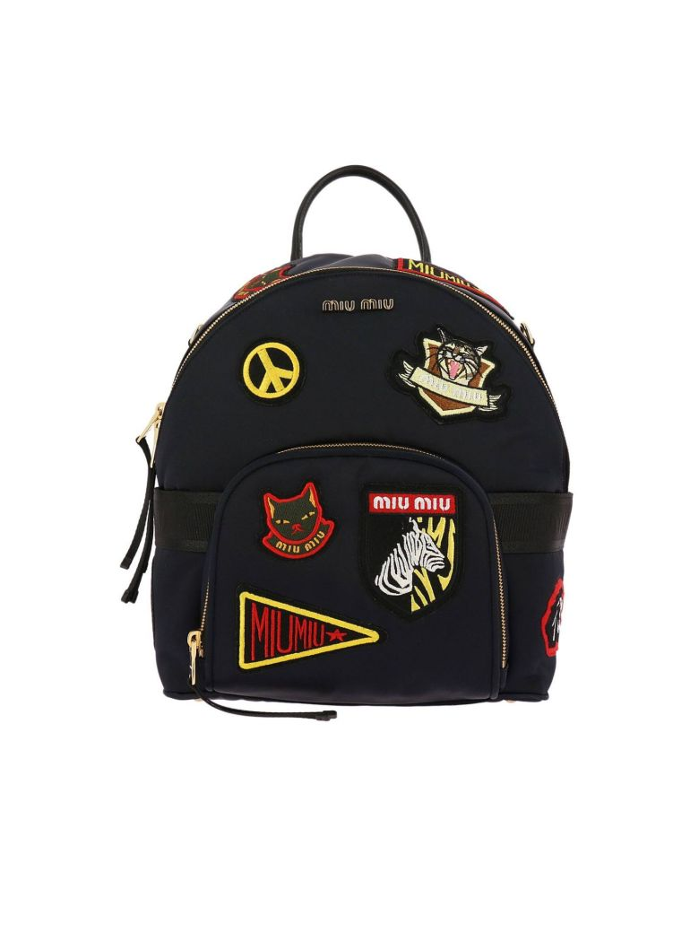 Navy Patches Backpack