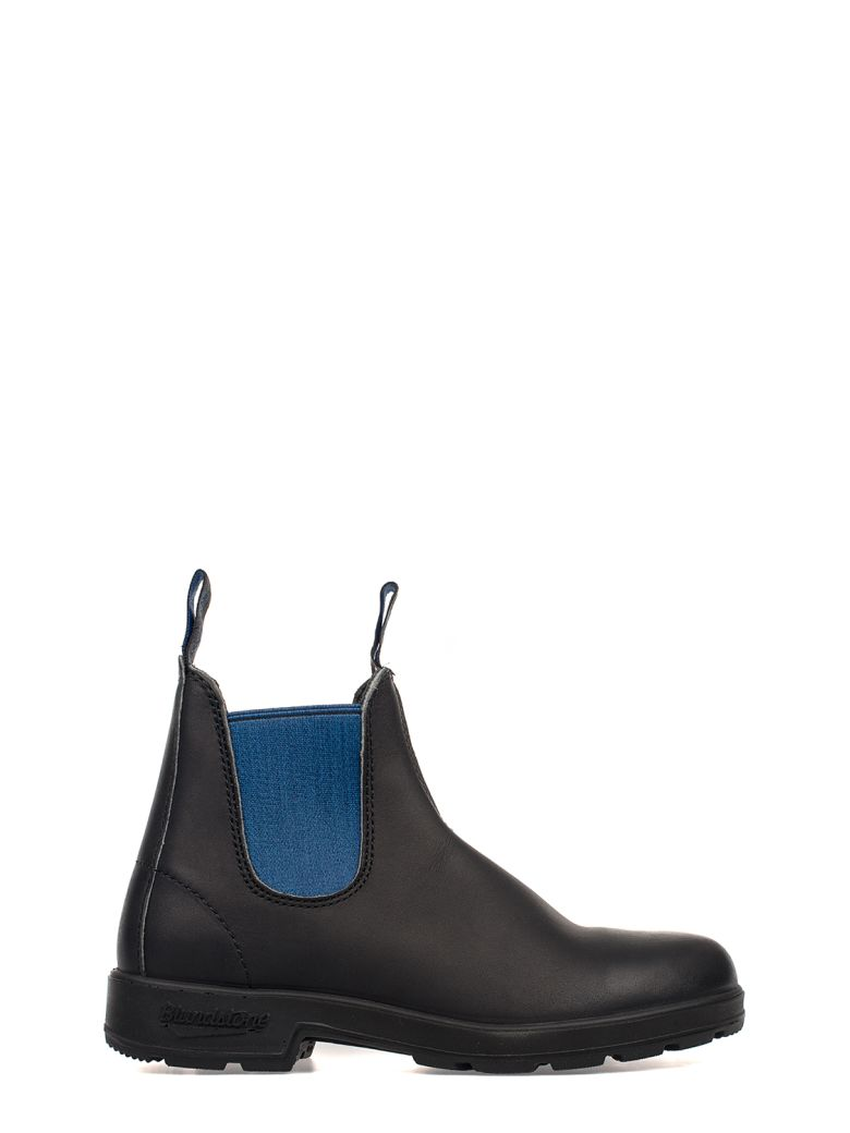 BLUNDSTONE BLACK-ELECTRIC BLUE LEATHER LOW BOOT