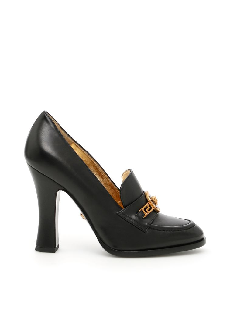 LEATHER TRIBUTE PUMPS