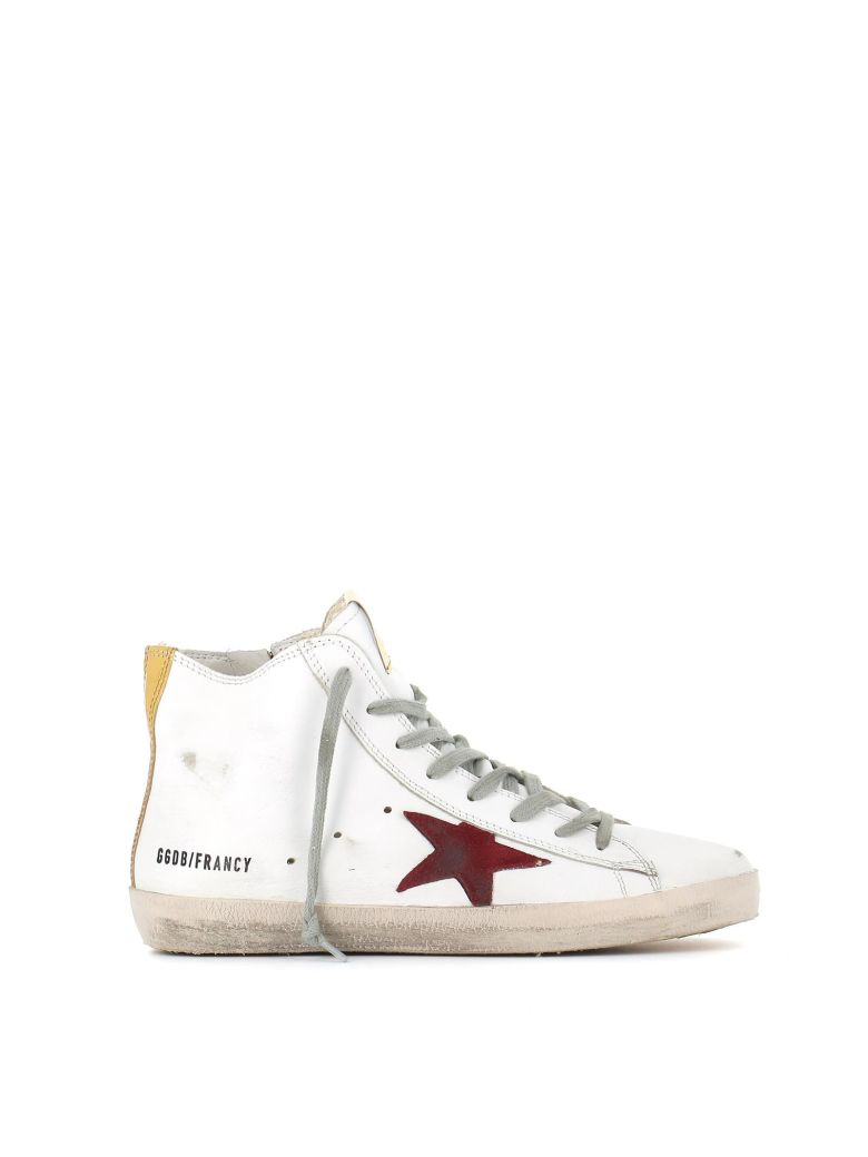 """Francy"" Sneakers In White Leather With Gold Details"
