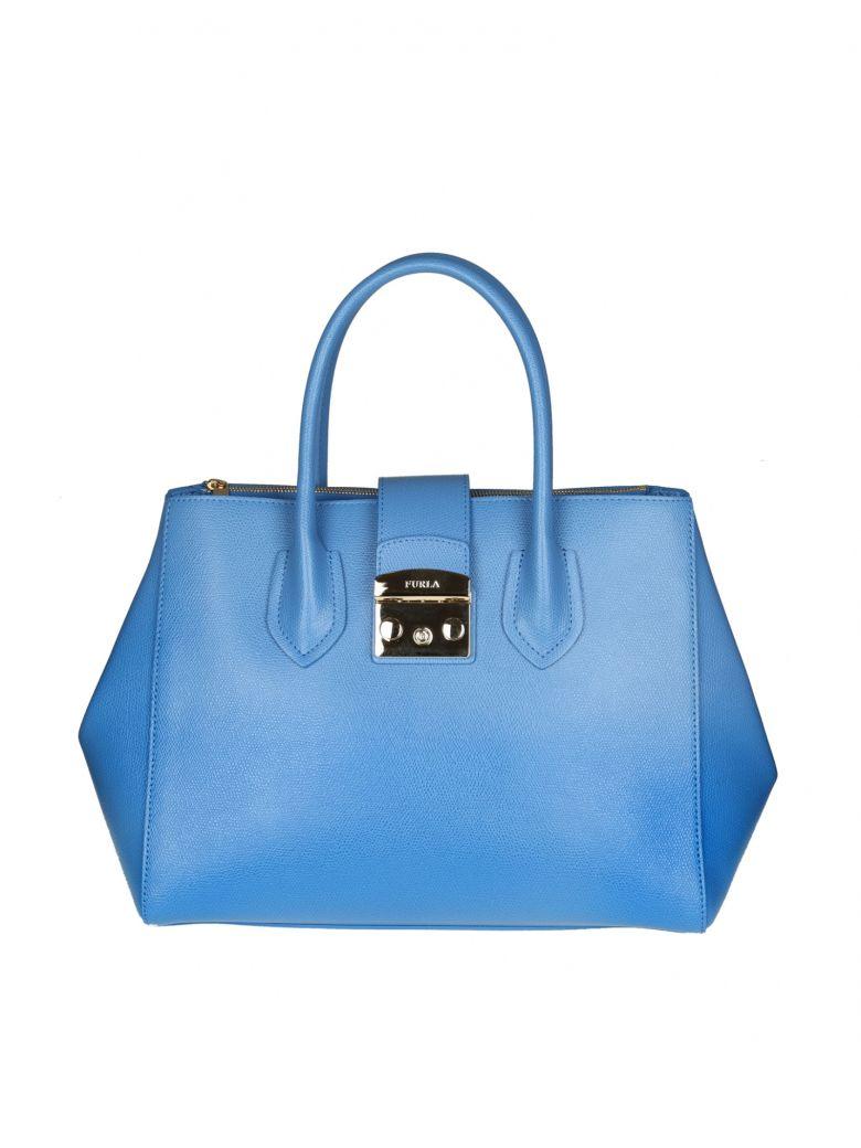 METROPOLIS M HAND BAG IN LIGHT BLUE COLOR LEATHER