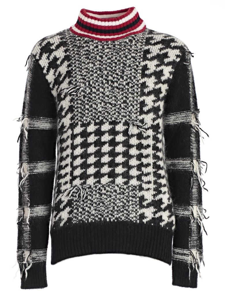 TOMMY HILFIGER  Houndstooth Pattern Jumper  in Black