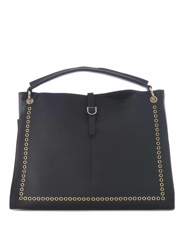 MIA BAG Golden Studs Tote in Piombo