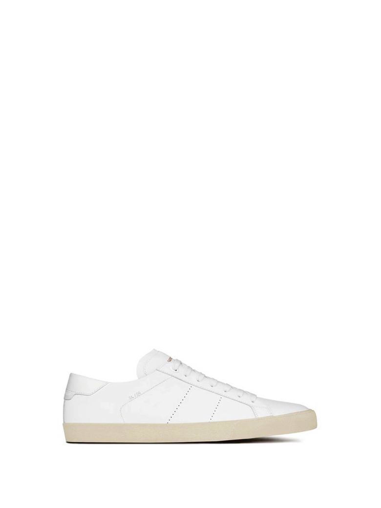 SL-06 COURT SNEAKERS IN WHITE LEATHER