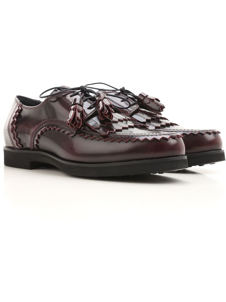 LEATHER DERBY WITH TASSELS