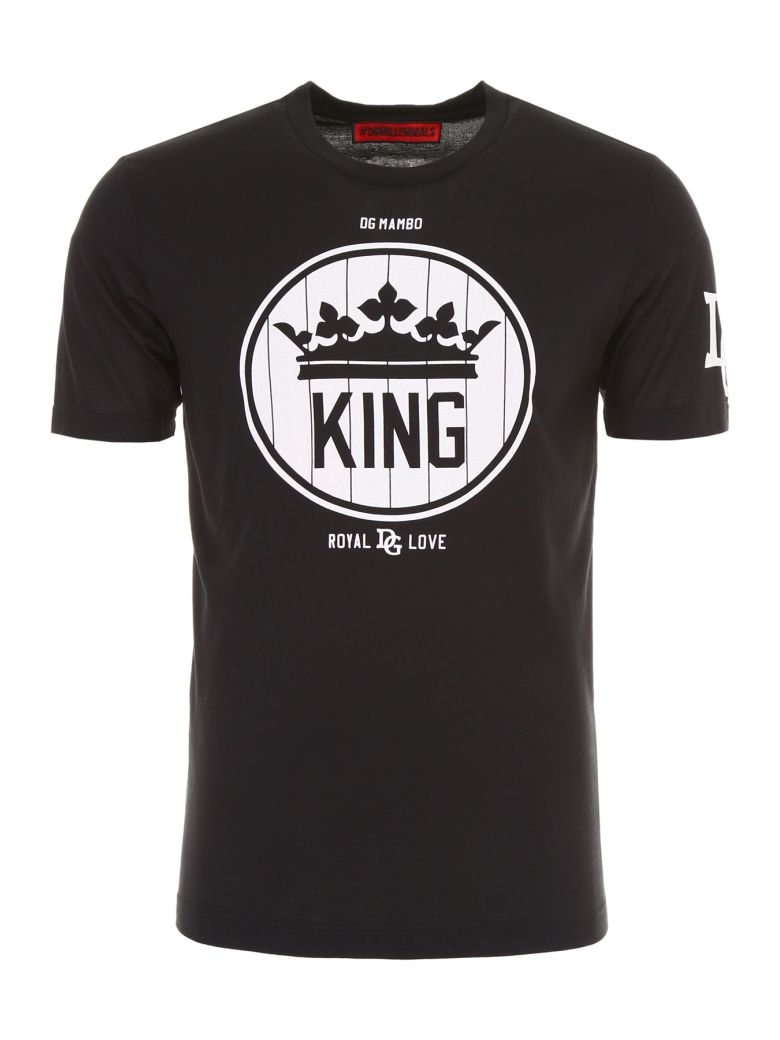 Dolce And Gabbana Black Crown King T-Shirt from DOLCE & GABBANA