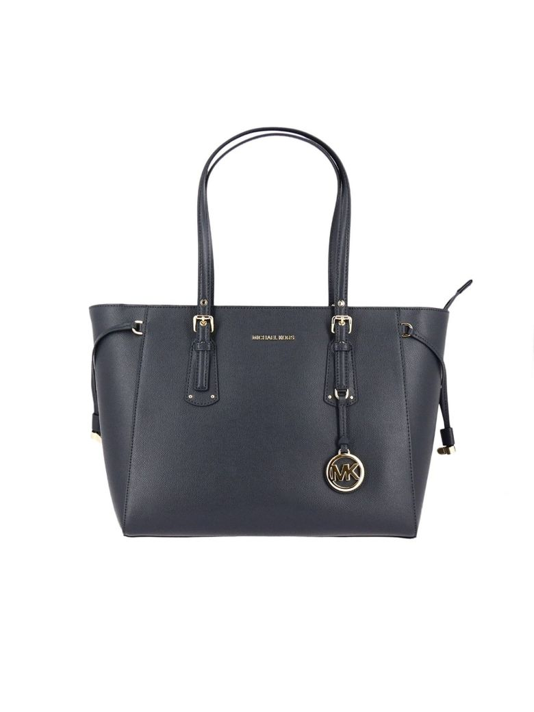 Michael Michael Kors Voyager Multi-Function Top Zip Medium Leather Tote In  Blue 8c42260de4