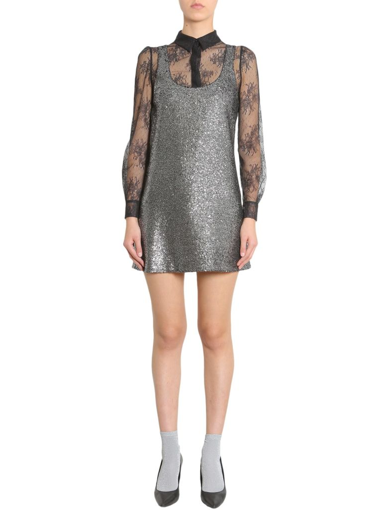 Metallic Boucle Dress, Argento