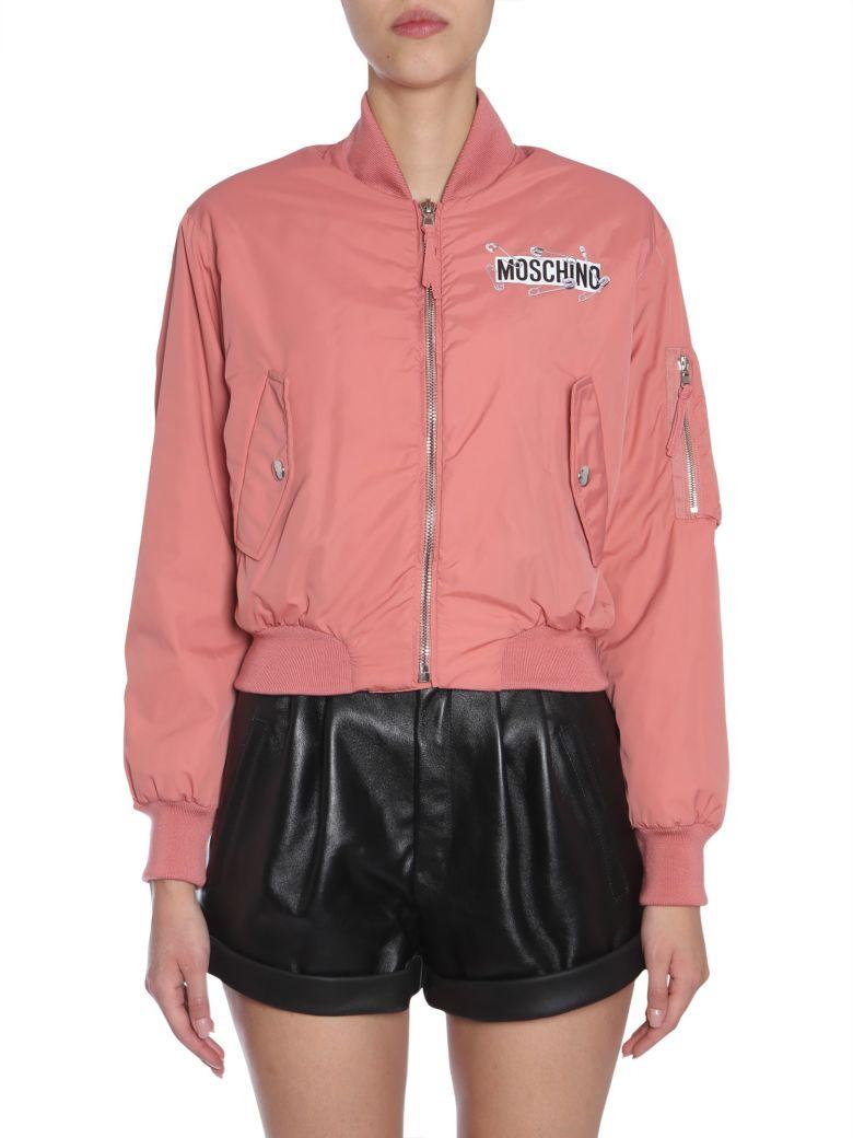 Cropped Bomber Jacket, Rosa