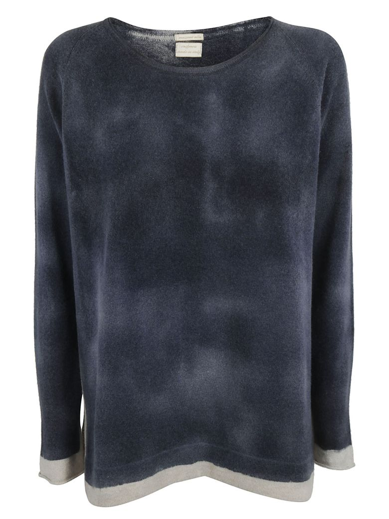 Contrast Detail Sweater, Navy