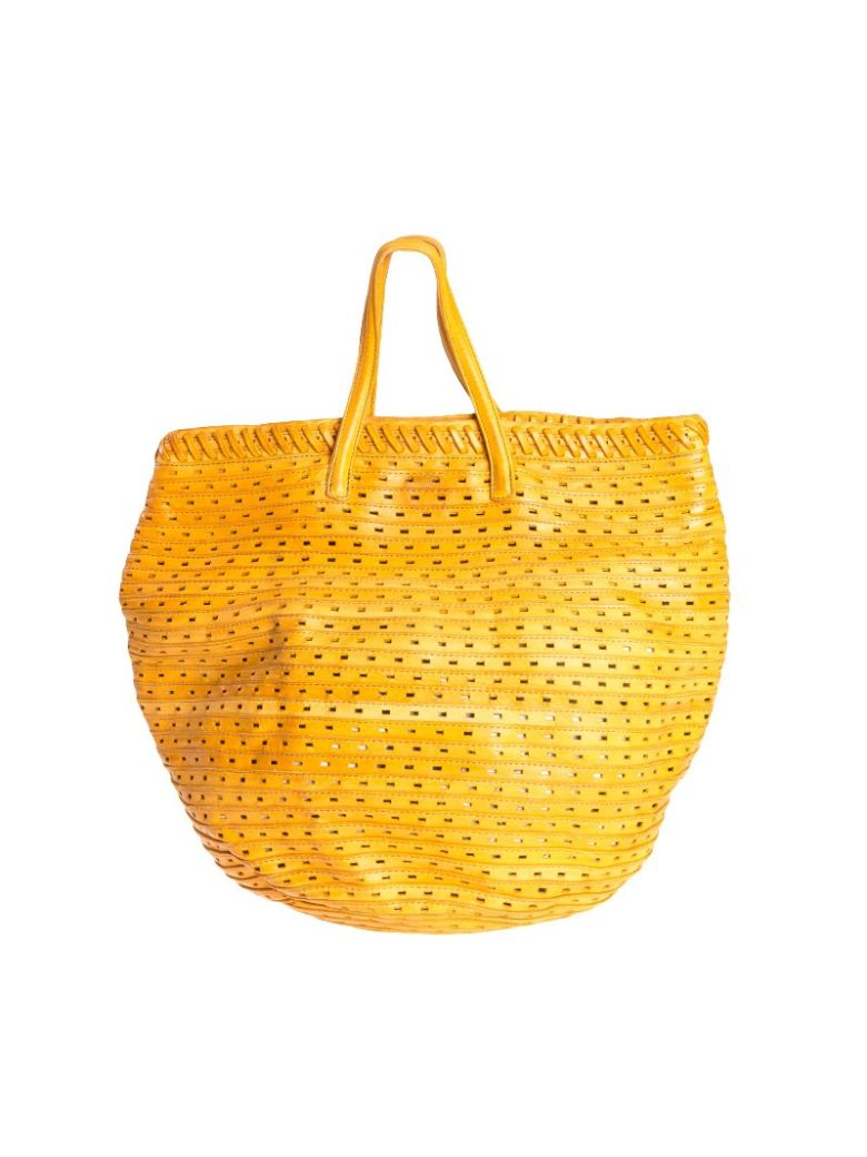 MAJO - Leather Bag in Yellow