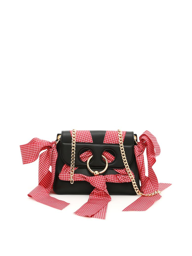 MINI PIERCE LEATHER BAG WITH RIBBONS