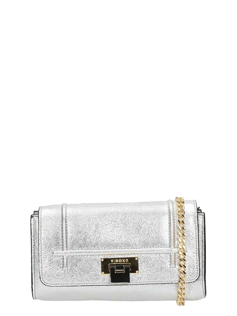 PATTY LAMINATED SILVER LEATHER BAG