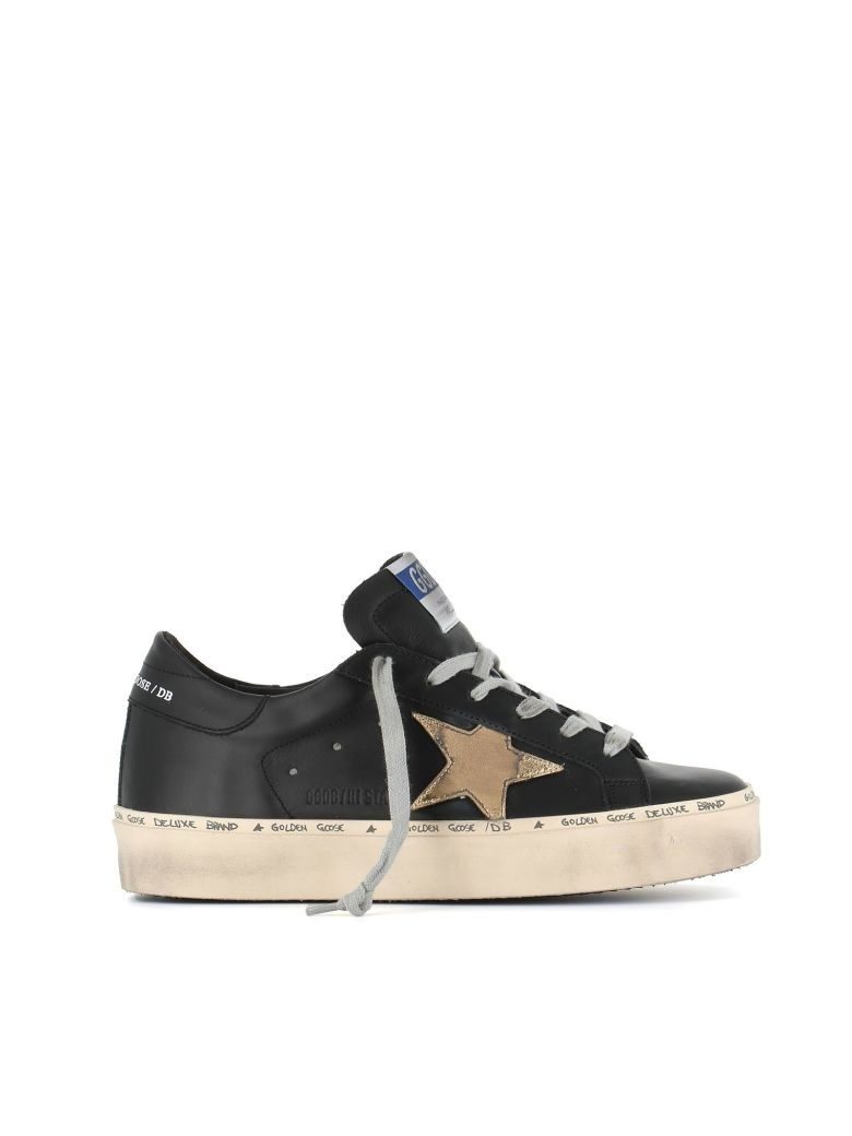 Hi Star Exaggerated-Sole Leather Trainers, Black