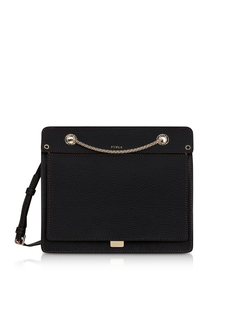 LIKE SMALL LEATHER CROSSBODY BAG W-CHAIN STRAP