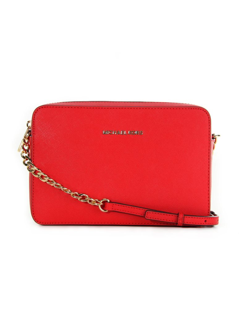 JET SET TRAVEL LARGE CROSSBODY MICHAEL MICHAEL KORS RED