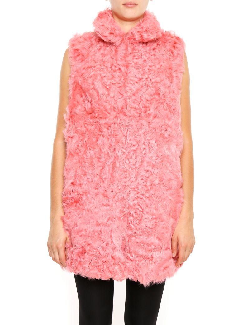 NUMEROOTTO Kalgan Fur Vest in Dark Pink