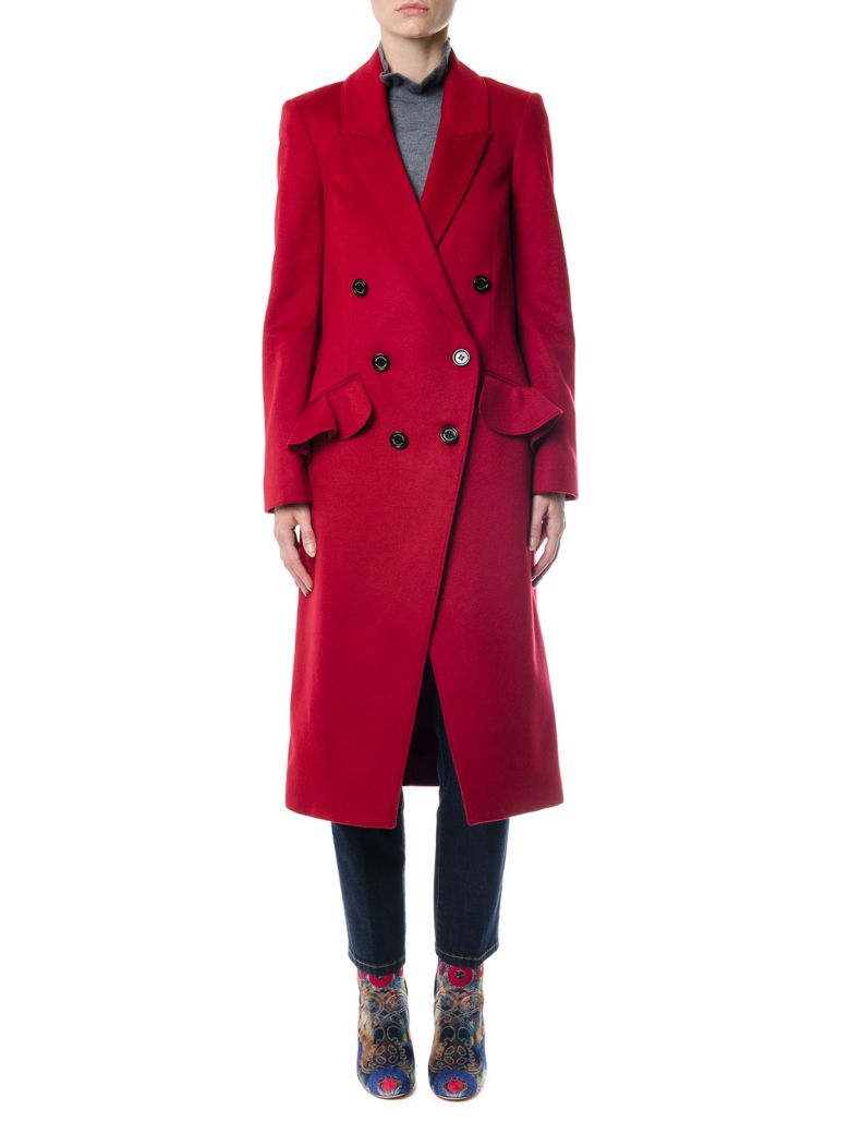 WOOL-CASHMERE BLEND DOUBLE BREASTED COAT