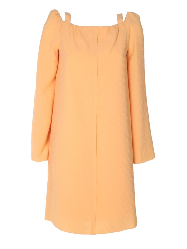 CRINKLED-GEORGETTE DRESS