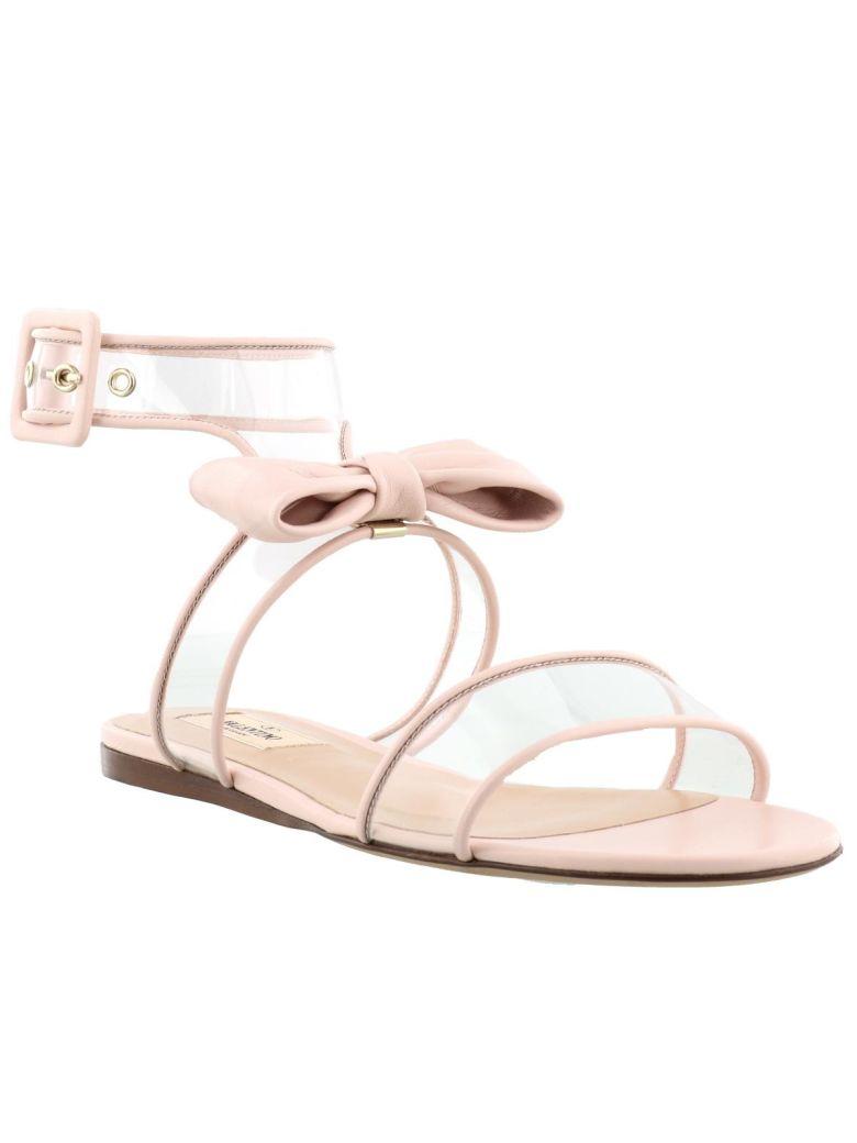 Garavani Clear Strap Bow Sandals - IT36 / Pink Valentino pSGQ1f03