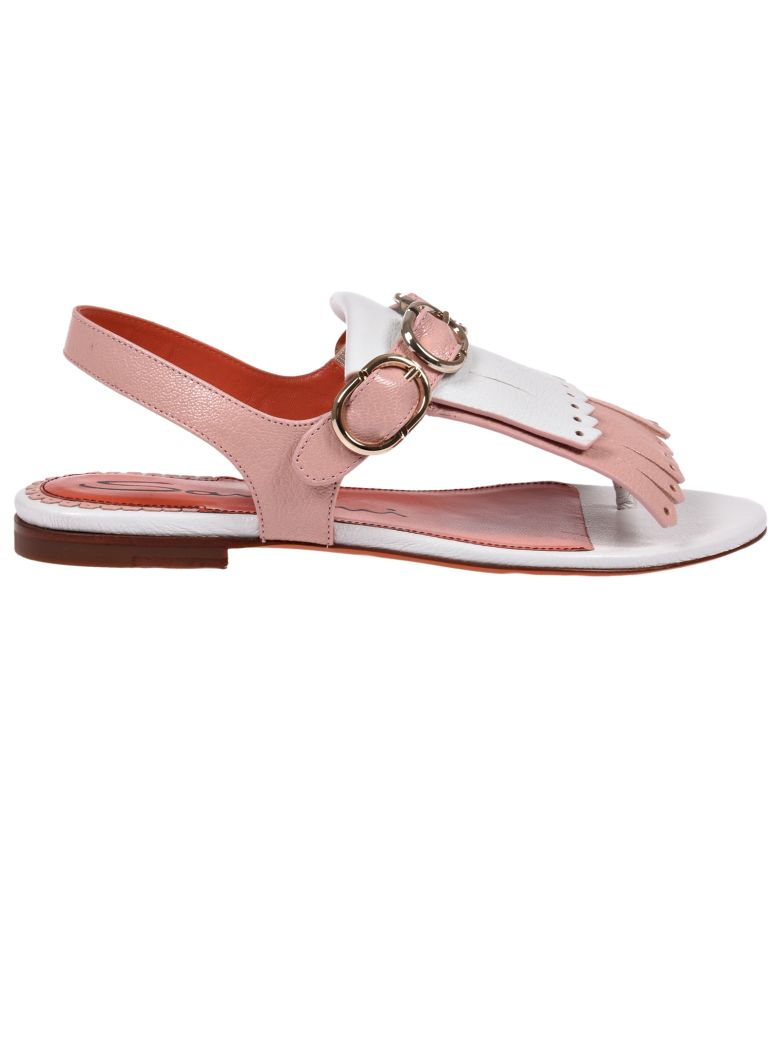 shop offer with credit card free shipping Santoni fringed flat sandals rPqZ9