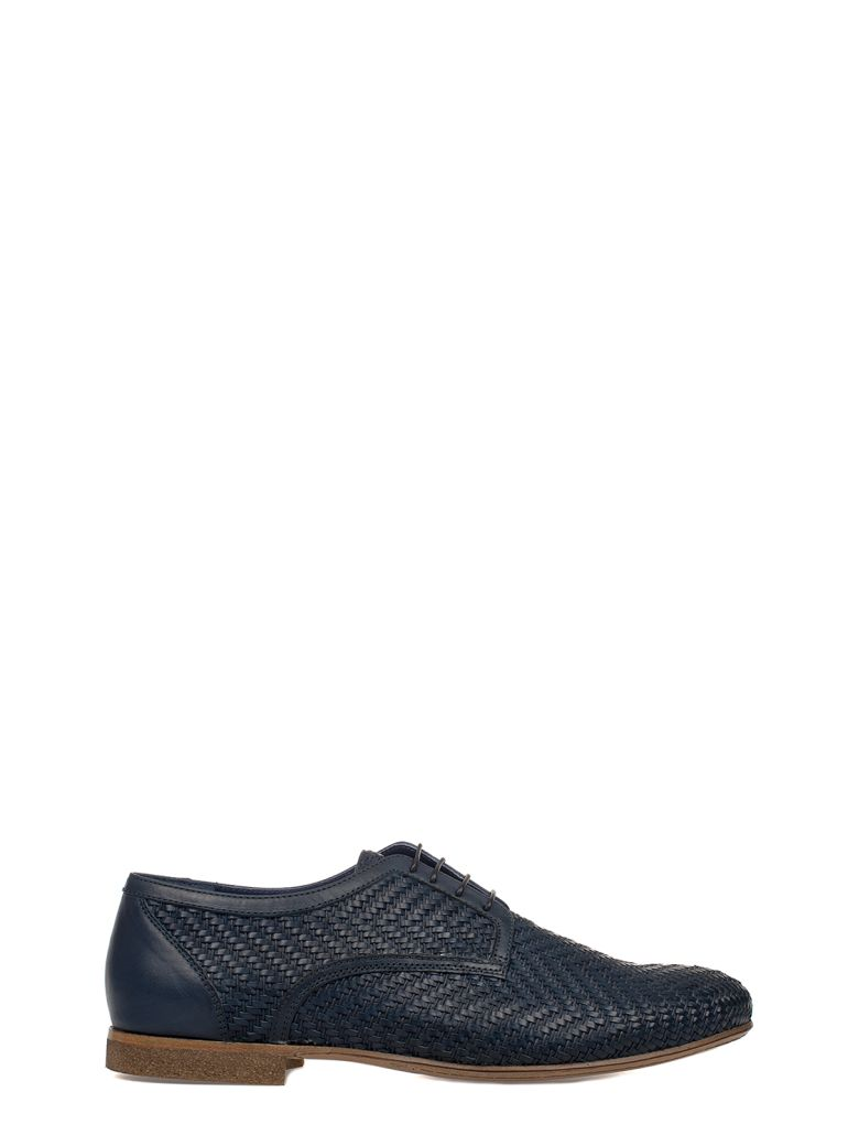 ALBERTO GUARDIANI BLUE LEATHER DERBY