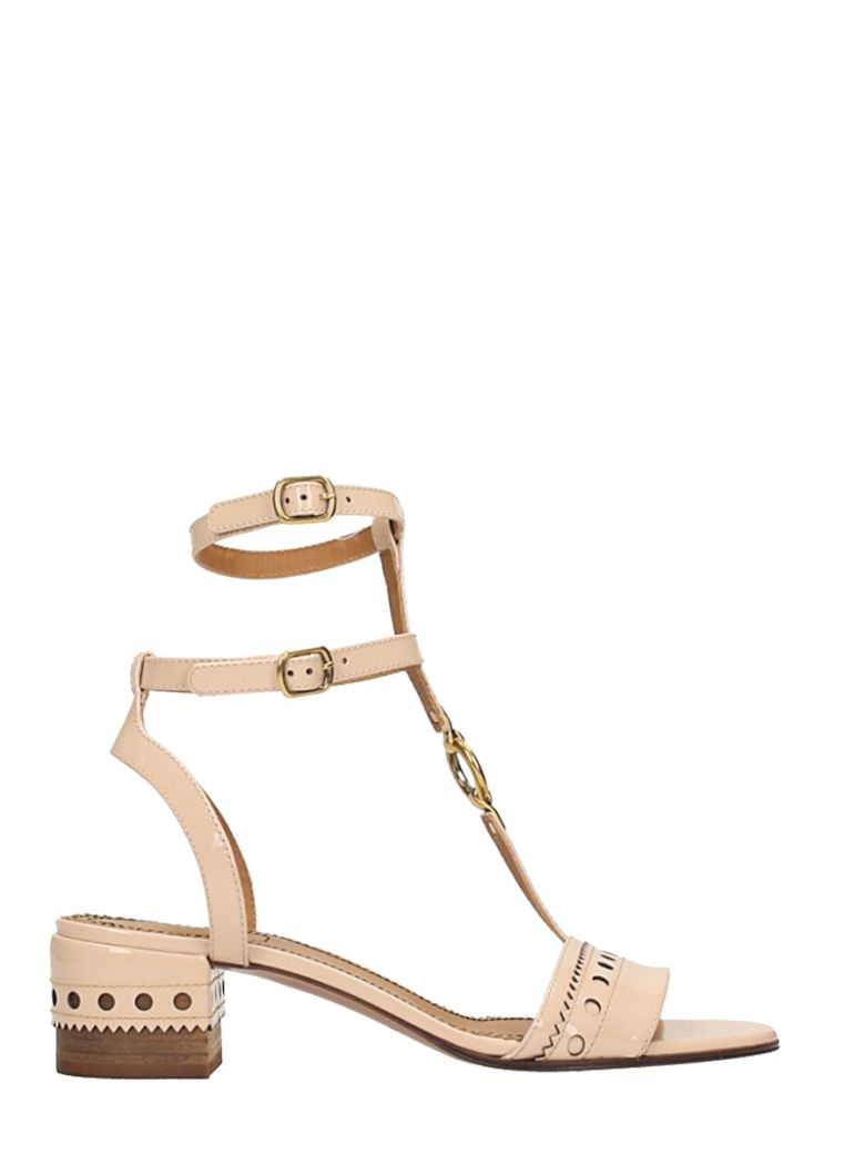 PERRY PATENT LEATHER SANDALS