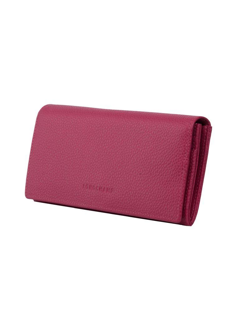 663274d473b6 Longchamp Le FoulonnÉ Continental Wallet In Pink   Purple