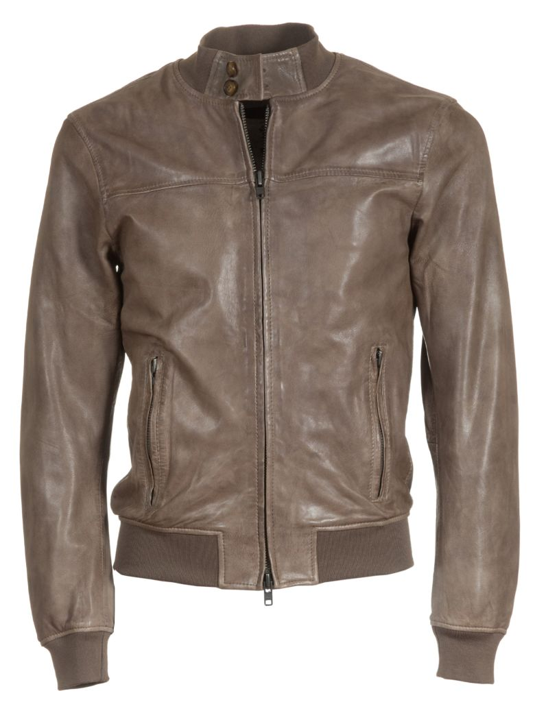 BULLY Classic Leather Jacket in Brown
